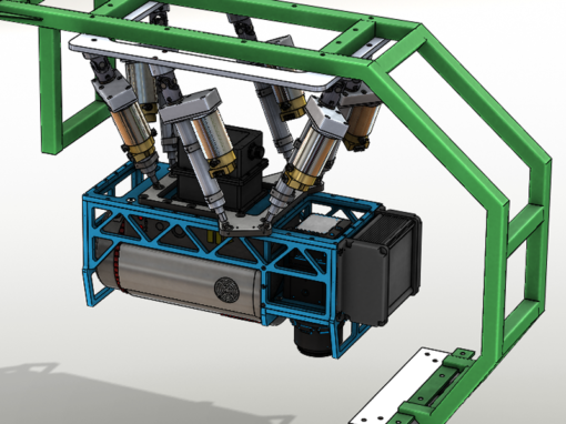 Stabilizing platform for AMS584's sensors